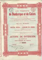 Titre Ancien - Les Tramways De Dunkerque Et De Calais - Société Anonyme - Lot De 2 Titres De 1904 - - Railway & Tramway