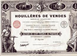 HOUILLÈRES De VENDES (Imprimerie Richard) - Mijnen