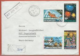 SEYCHELLES LETTRE RECOMMANDEE DE 1973 DE VICTORIA - Seychellen (1976-...)