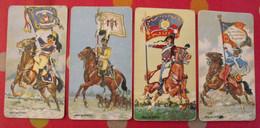 4 Images Cartonnées Offertes Par Lessive Persil. Porte-drapeau De Napoléon. Image, Chromos. Vers 1960 - Otros