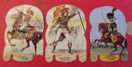 3 Plaques En Métal. Fromages Mère Picon. Soldats De L'empire, N° 17,27,34. Vers 1960 - Targhe In Lamiera (a Partire Dal 1961)