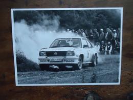 Photo De Presse RALLYE Hainbach -  OPEL ASCONA 400 - Gr. B - ( Heinz-Walter Schewe / Dr Ricken   ( +/-  1984 ) - Cars