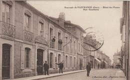 CPA  32  FLEURANCE  HOTEL DES POSTES  RUE GAMBETTA - Fleurance