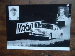 Photo De Presse RALLYE   OPEL MANTA 400 - Gr. B - ( Erwin WEBER - Gunter WANGER )  ( +/-  1984 ) - Cars