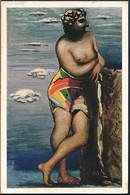 °°° GF1217 - G. DE CHIRICO - DONNA IN CALZONCINI DA BAGNO - 1968 °°° - Malerei & Gemälde