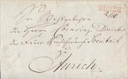 Hannover Brief Roter L1 Bunde 2.10. Gel. Nach Aurich - Hanover
