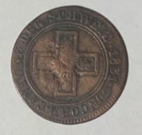 Suisse - FRIBOURG - 5 Rapp(1/2Batzen )1831 - HMZ 282 - Zwitserland