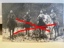 Duitse Fotokaart -WO I - Genk - Duitse Ulanen Op Patrouille Langs De Doodendraad Grens Belgie-Nederland. - Genk