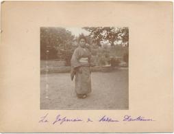 Petite Photo (8,5 X 8 Cm) Collée Sur Carton - Japonaise - Geisha (BP) - Personas Anónimos
