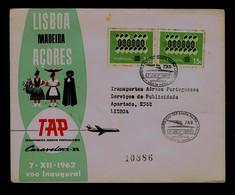 Portugal Madeira Island First Flight TAP Caravel VI-R 1962 SANTA MARIA Aeroport - Lisboa Sp7159 - Avions