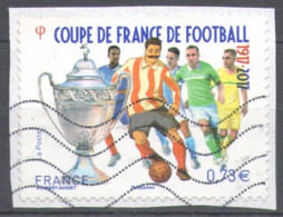 France 2017 Used Football, Soccer, The 100th Anniversary Of The Coupe De France - 2010-.. Matasellados