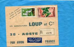 Marcophilie-+thematic Stamp-NLLE CALEDONIE-Lettre-REC- Cad Nouméa Sud1963-2 -stampsN°342+A90 Birds - Briefe U. Dokumente
