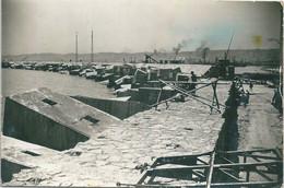 Photo Originale Alger Port Blocs De Béton Photo Par L. Dessault - Plaatsen