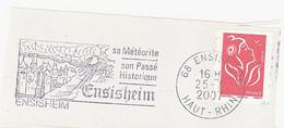 FRANCE. POSTMARK ENSISHEIM. 2007. FLAMME - 1961-....