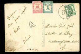 TAXE * PORT BELAST * POSTKAART Uit 1906 Van LEOPOLDSBURG BELGIE Naar MENNECY FRANCE  (11.846h) - Postage Due
