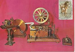 Bruxelles - Musée Postal. Section Télégraphes Et Téléphones. Appareil Morse (fin 19e S.) (scan Verso) - Correos & Carteros