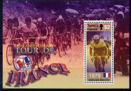 TURKS &CAIQUES - N° BF222** - CENTENAIRE DU TOUR DE FRANCE / BERNARD HINAULT - Turks & Caicos (I. Turques Et Caïques)