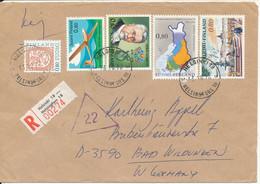 Finland Registered Cover Sent To Germany Helsinki 13-10-1976 - Briefe U. Dokumente