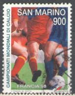 San Marino 1998 Used Football, Soccer, World Cup - France - Usados