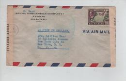 685PR/ Curacao WW2 Cover Aruba Tape Censor 'Gepoend Door Censuur Aruba 29' > USA Censor 'Tape Examiner'  Removed - WO2