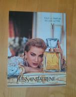 Yves Saint Laurent Parfum - Parfumkaarten