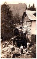 ROMANIA - POIANA TAPULUI / PRAHOVA : MOULIN À EAU / WATER MILL - CARTE VRAIE PHOTO  / REAL PHOTO ~ 1930 - RRR ! (af726) - Rumania
