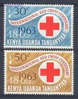Kenia Uganda Tanganyika 1963 Mi 130-131 MNH ( ZS4 AFR130-131 ) - Rode Kruis