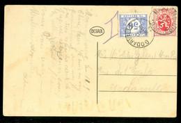 TAXE * PORT BELAST * POSTKAART Uit 1932 Van MARIENBOURG BELGIE Naar GODARVILLE BELGIE  (11.846p) - Postage Due