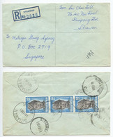 Malaysia, Federation 1961 Registered Cover Sitiawan, Perak To Singapore - Malayan Stamp Agency - Fédération De Malaya