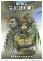 """Carte Postale """"Cart'Com"""" (2003) - Enki Bilal - 32 Décembre - En Librairie Le 3 Juin (bande Dessinée) - Comicfiguren"""