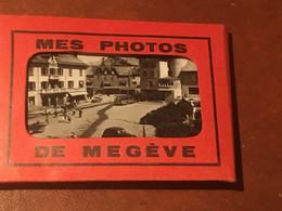 MEGEVE Carnet 10 Photos N/B Vintage TBE - Plaatsen