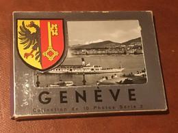 GENEVE Carnet 10 Photos N/B Vintage - Plaatsen