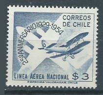 Chili Poste Aérienne YT N°156 Ligne Aérienne Nationale Neuf ** - Chile