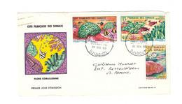 Côte Française Des Somalis (1894-1967) > DEVANT DE LETTRE VOYAGEE N°317   + PA N°34 ET N° 35              30/11/63 - Covers & Documents