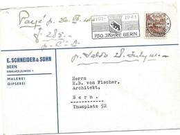 """169 - 71 - Enveloppe Avec Superbe Oblit Mécanique """"750 Jahre Bern 1941"""" - Covers & Documents"""