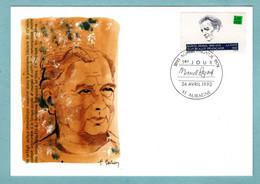 Carte Maximum 1993 - écrivains Célèbres - Marcel Pagnol - YT 2802 - 13 Aubagne - 1990-99
