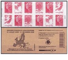 FRANCE 2008 - Carnet Marianne De La Beaujard Et Europe ** -  Yvert 1516 Mnh - Frankreich
