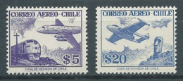 Chili Poste Aérienne YT N°168-170 Série Courante Neuf ** - Chile