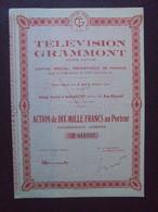FRANCE - 92 - MALAKOFF - TELEVISION GRAMMONT - ACTION DE 10 000 FRS - Hist. Wertpapiere - Nonvaleurs