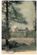 BETZ (60) VUE Sur Le PARC. CARTE TOILEE COLORISEE. 1912. - Frankreich