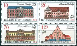 DDR - Mi 3067 / 3070 Zdr - ** Postfrisch (A) - Historische Postgebäude - Neufs