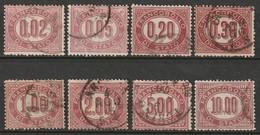 Italy 1875 Sc O1-8 Sa 1-8 Official Complete Set Used - 1861-78 Vittorio Emanuele II