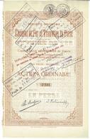 Titre Ancien - Société Anonyme De Chemins De Fer Et Tramways En Perse - Titre De 1887/1930 - - Railway & Tramway