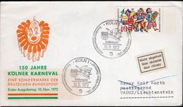 Deutsche Bundespost - 1972 - Brief - Ersttagbrief - Sondersempel - 150 Jahre Kölner Karneval - A1RR2 - Carnival