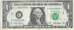USA=2001   PENNSYLVANIA   STAR NOTE  1 DOLLAR   V FINE - Biljetten Van De  Federal Reserve (1928-...)