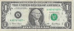 USA=2001   MASSACHUSETTS   STAR NOTE  1 DOLLAR   V FINE - Biljetten Van De  Federal Reserve (1928-...)