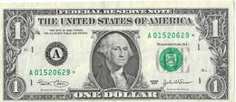 USA=2003   MASSACHUSETTS   STAR NOTE  1 DOLLAR   V FINE - Biljetten Van De  Federal Reserve (1928-...)