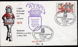 Deutsche Bundespost - 1975 - FDC - Cachet Spécial - Première Grande Société Du Carnaval De Mülheim 1937 EV - A1RR2 - Carnival