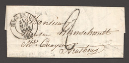 1842  Lettre De Haguenau Pour Strasbourg - 1801-1848: Precursors XIX