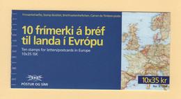 Islande - Carnet - C-752 - Europa - Decouvertes - Volcans - Cote 20€ - Ungebraucht